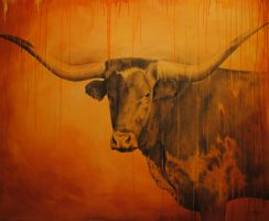 Longhorn in graphite by Gilbert Cantu by GilbertCantu