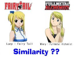 Lucy Winry - similarity by Toa-fullmetal