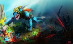 Escape from Dark Reef by kovah