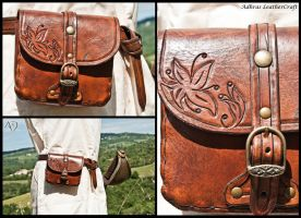 Small Reddish Brown Belt Purse by Adhras