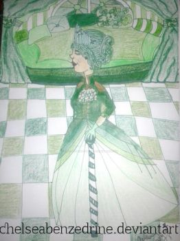 #7daysofcolor Day 4: Green Queen by ChelseaBenzedrine