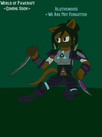 World of Pawcraft - Aly the Rogue by Frozenvolf