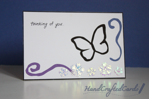 Butterfly - Thinking of You Card by HandCraftedCards
