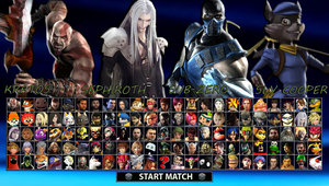 Playstation All-Stars - My Roster (Version 2) by DENDEROTTO