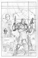 RoboCop Cover pencils by Mooneyham