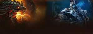 Deathwing and The Lich King - Facebook Timeline by DremoraValkynaz