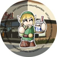 Link Loves Timmy's Badge by RedPawDesigns