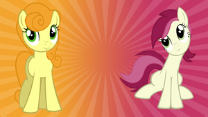 Carrot Top and Roseluck Wallpaper by DrFatalChunk