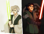 suyin and kuvira - star wars AU by shorelle