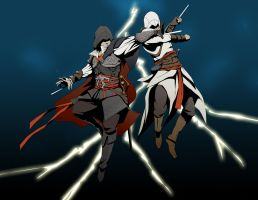 duel in thunder by doubleleaf