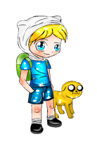 Finn and Jake by xXBloody-MagicXx