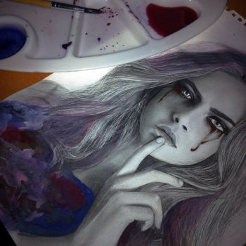 CARA crying galaxies, (progress) by Aeriz85