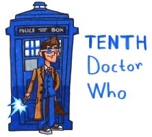 Tenth Doctor Who with Tardis by YouCanDrawIt