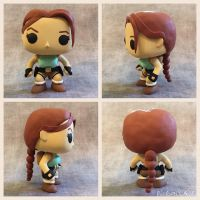 Custom DIY Tomb Raider Lara Croft Funko Pop Figure by Sorenli