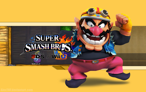 Wario Wallpaper (1) - Super Smash Bros. WiiU/3DS by AlexTHF