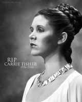 RIP Carrie Fisher by urielwelsh