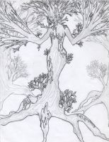 the tree dryad by daydreamerseyes
