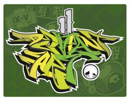 Deviant Art Graff Piece by AlecksCruz