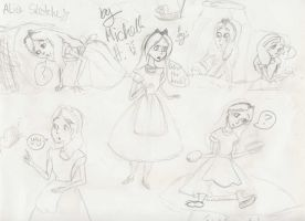 Alice doodles by Moronic-Muffin