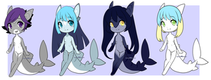 Mini Sharks [closed] by Pikapaws