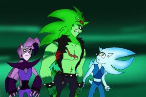 Scourge and Sly and Nazo by klaudiapasqui