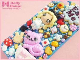 iPhone 5 case -Alice in Wonderland tea party- by D by SweetDollyHouse
