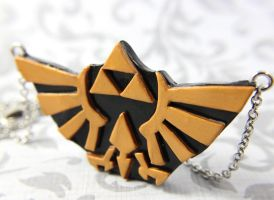 Hyrulian Crest necklace by TrenoNights