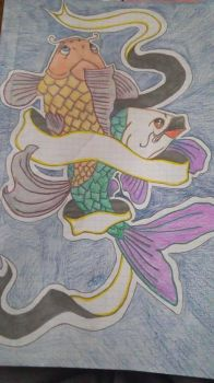 koi fish by Selenophy369