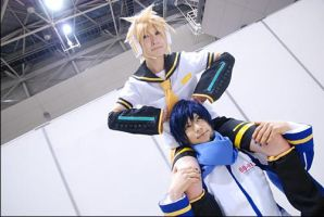 kaito with len by kaname-lovers