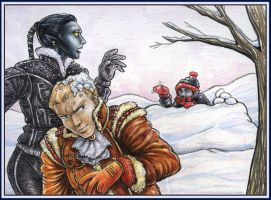 Atevi Snow Day by resa-challender