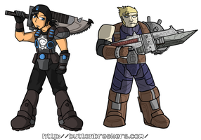 Marcus Strife and Cloud Fenix by BrokenTeapot