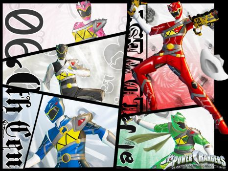 Power Ranger Race Thorugh Time by the-newKid
