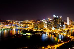 Pittsburgh at Night 2011-3 by kdennisnaz