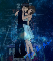 ~..Happy New Years From The Blue Neon Couple..~ by xlightbluesnowflakex
