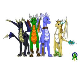 The Entire Gang by derp00Spyro