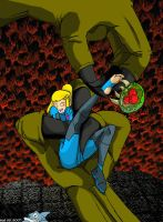 Samus tickle pic from 2007 by SharkstormBridge