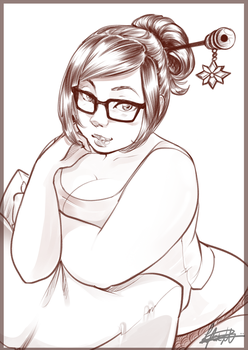 Mei: Patreon Sketch by BlossomPPG