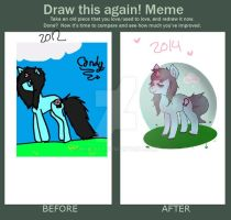 Draw this again meme: 2012-2014 Candy by heIIcats