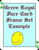 Face card Green Royals frame set for PSP 8 by Wild-Card-CR