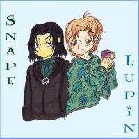 Snape and Lupin by beanchan
