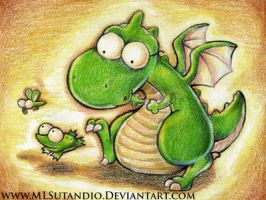 Dragon, Frog and Dragonfly by MLSutandio