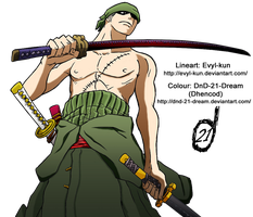 Zoro Colour by Dhencod