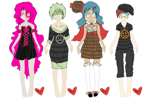 adopts 100-104 by adoptableluvr