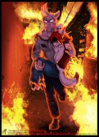 .Hero among the Flames. by JezzKitty