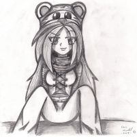 Punk Rock Chic with a bear hat by NinjaZombie5692