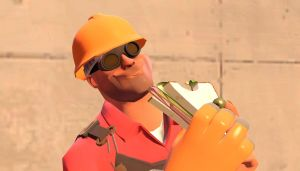 Cute Engineer eating Sandvich by ThatGrayCartoonPony