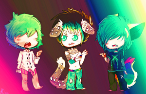 ..::CM::.. Chibi Party by DonitKitt