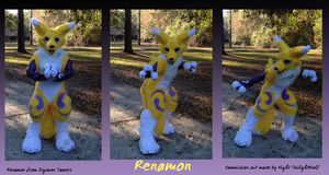 Renamon Fursuit .Fight.- commission by NightTwilightWolf