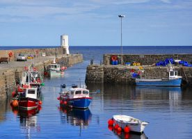 Rosehearty Harbour 2 by PomPrint