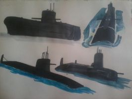 Submarines by ArtistNumber3